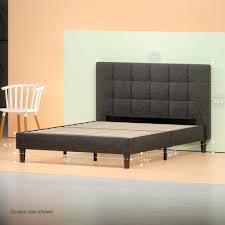 Upholstered Square Stitched Platform Bed Frame