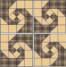 765 best images about квилт-блок on Pinterest & traditional layout of the monkey wrench or snail's trail quilt block Adamdwight.com