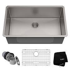 Kraus KHU100-28 Kitchen Sink, 28 Inch, Stainless Steel - - Amazon.com |  Stainless steel kitchen sink, Undermount kitchen sinks, Sink