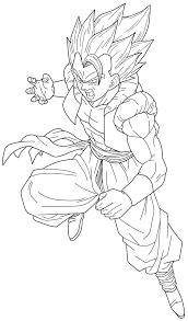 Gogeta super saiyan lineart by chronofz