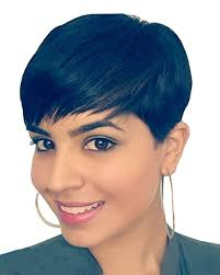 Perruque Noire Pour Femme Falamka Cheveux Raides à L
