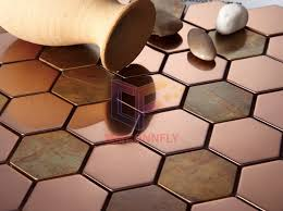 china stainless steel mix copper mosaic tiles for wall cfm970 china mosaic stainless steel mosaic