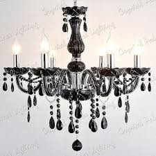 black crystal chandelier 6 arms black crystal chandelier 8 arms