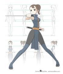 anime characters with swords drawing. Fine Swords Mangaanime Style Ninja Girl Design To Anime Characters With Swords Drawing R