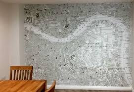 Custom Printed Historic Ordnance Survey Map Wallpaper