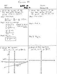splendid algebra 2 mr hopkins ezmath 123 graphing linear equations worksheets grade 8 warm up day