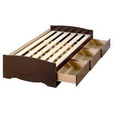 3 drawer Platform Storage Bed  Twin XL  Espresso  Prepac