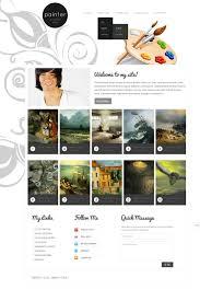 art portfolio template artist portfolio website template 37538