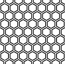 Black Pattern Background Mesmerizing Black And White Hexagon Pattern Background Royalty Free Cliparts