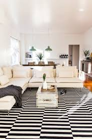 chic modern living room with stockholm rug