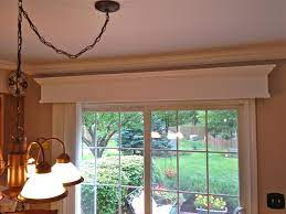 curtains with blinds wooden valance