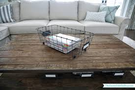 since i aim to please and because you don t have to twist my arm to about organizing with baskets here is a post on my coffee table baskets