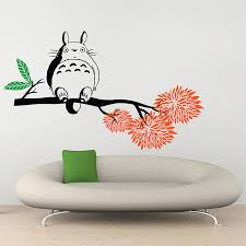 on tree branches vinyl wall art with my neighbor totoro on tree branch vinyl wall art decal