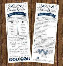 Fun Wedding Programs Infographic Wedding Programs Printed Programs Fun Wedding