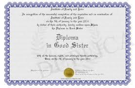 diploma in good sister