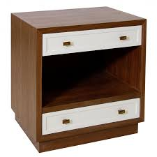 stunning white lacquer nightstand furniture. contemporary lacquer furniture square brown wooden nightstand with double white drawers  and rack stunning c for white lacquer furniture e