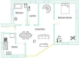 Balta eco projectThis plan shows our ground floor  Here you can see a big living room giving on a glassed wall on the south face of the house  the kitchen  the laundry