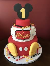 Mickey Mouse First Birthday Cake ...