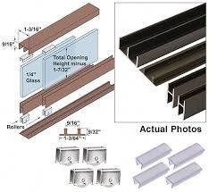 woodworker com epco sliding glass door track assemblies display case door track image for item