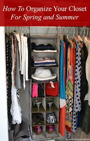 organizing your closet for spring and summer