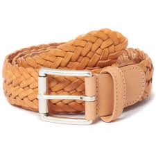 anderson 039 s braided natural sand leather belt