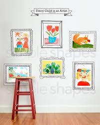 kids art display frames photo frames
