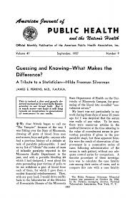 Guessing and Knowing—What Makes the Difference? A Tribute to a Statistician—Hilda  Freeman Silverman