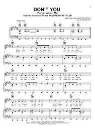 forget you piano sheet music dont you piano sheet music onlinepianist