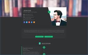 Web Resume Template Contemporary Art Websites Resume Website