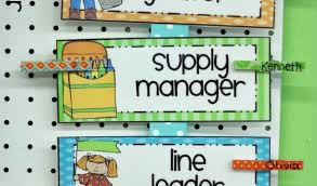 Free Preschool Job Chart Clipart Exhaustive Preschool