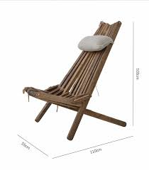 outdoor wood folding chair lounge with pillow and seat cushion outdoor furniture beach chair foldale patio balcony chair wooden in beach chairs from