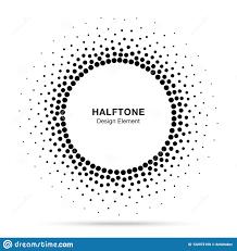 Circle Border Halftone Circular Dotted Frame Logo Circle Border Using