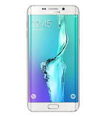 samsung s6 edge. front view of white pearl galaxy s6 edge plus samsung o
