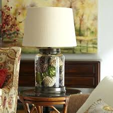 fillable lamp base glass table
