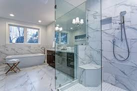 glass master bathroom with shower glass in san antonio tx