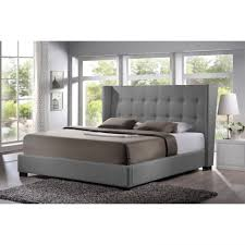 grey upholstered sleigh bed. Bedding White Queen Bed Frame Upholstered Tufted Sleigh Grey Cushion R