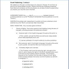 book publishing templates book publishing contract template free sample templates