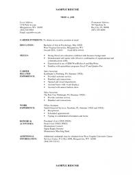 97 Simple Job Resume Template Awesome Resume Examples Simple Job