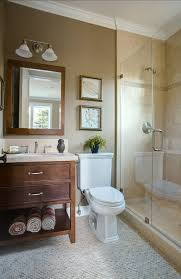 Inspirations Brown Bathroom With Lights And Bathtub Neutral Neutral Bathroom Colors