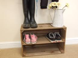Shoe Storage Shabby Chic Wooden Shoe Rack New Handmade Vintage Style