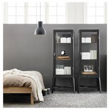 Glass Door Cabinet Fabrikr Glass Door Cabinet Dark Gray Ikea
