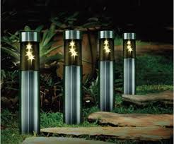 outdoor lighting stainless solar post lamp led patio lights yard with regard to solar patio lights