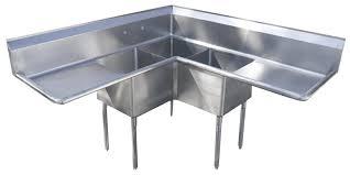 commercial kitchen sink. 3 Compartment Corner Sink | Commercial Kitchen