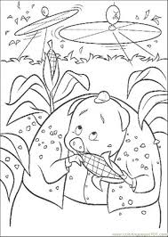 Small Picture Runt Is Eating A Corn Coloring Page Free Chicken Little Coloring