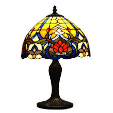 table lamps 12 fl table accent antique dale tiffany style stained glass lamp shade night