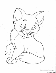 Cute Kitten Coloring Pages Free Printable At Getdrawingscom Free