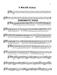 Trumpet Chromatic Scale Chart Method Of Scales