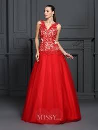 ball dresses online. ball gown v-neck sleeveless lace floor-length prom dresses online