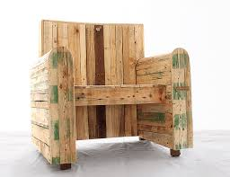 Image Skids Homecrux Pallet Wood Armchair By Redolab Brings Rustic Charm To Interiors