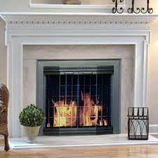 fireplace glass screen awesome pleasant hearth fireplace screen and bi fold track free for glass fireplace